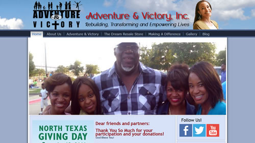 Adventure & Victory website screenshot
