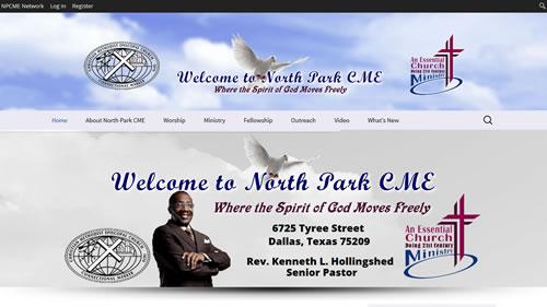 North Park CME Church website screenshot