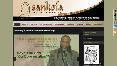 Sankofa Education Services website screenshot