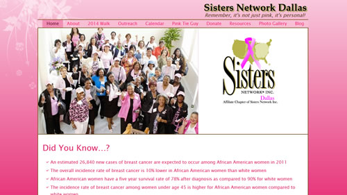 Sisters Network Dallas website screenshot
